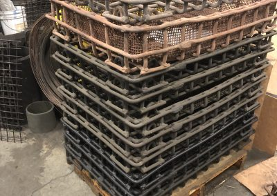 Item#M435 Cast Alloy Baskets, Fabricated Baskets And Cast Base Trays (Used)