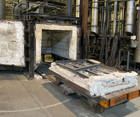 Item#B476 Gas Fired Car Bottom Furnace