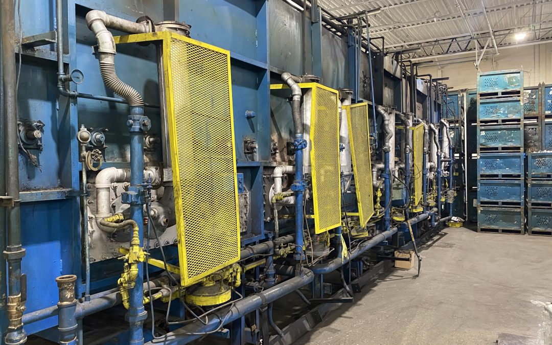 Item#C361 Rogers 3500 lbs/hour Mesh Belt Furnace Line