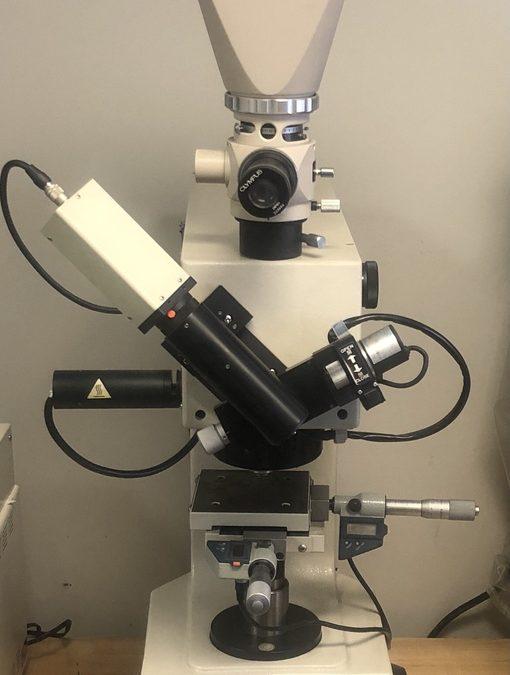 Item#L53 Mitutoyo MVK-H100 Hardness Testing Machine w/ Olympus PM-CP-3