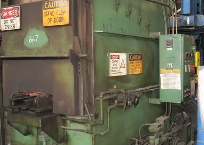 """Item# T408 Gas Fired Temper Furnace, 1400F, 30"""" X 48"""" X 30"""""""